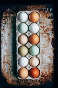 Carton of eggs on table Haig Park Canberra
